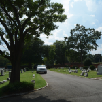 Figure 9 Photo of the Hebrew Cemetery on southside of Hospital Street.